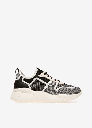 BLACK MIX POLYESTER Sneakers - Bally