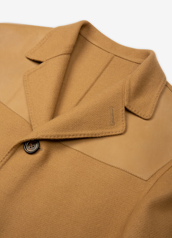 MARRON MIX WOOL Outerwear - Bally