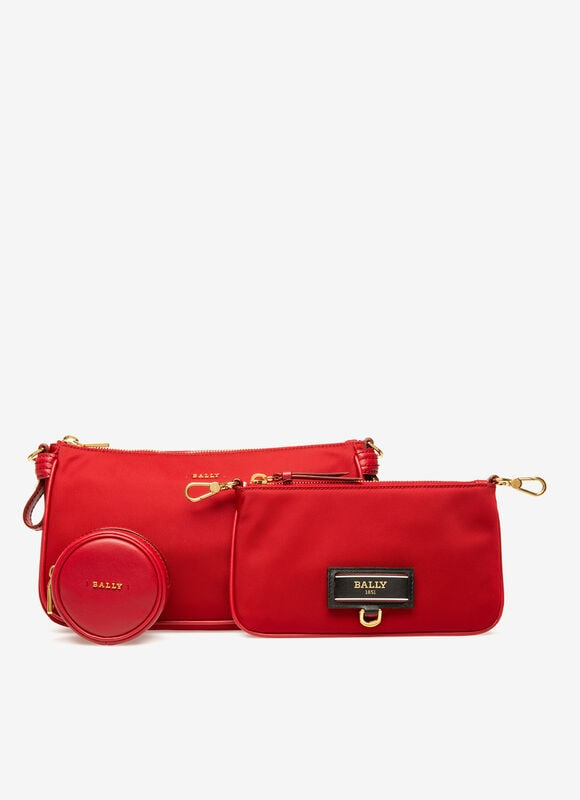 RED NYLON Mini and Belt Bags - Bally