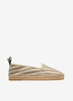 BEIGE MIX COTTON/POLY Chaussures plates - Bally