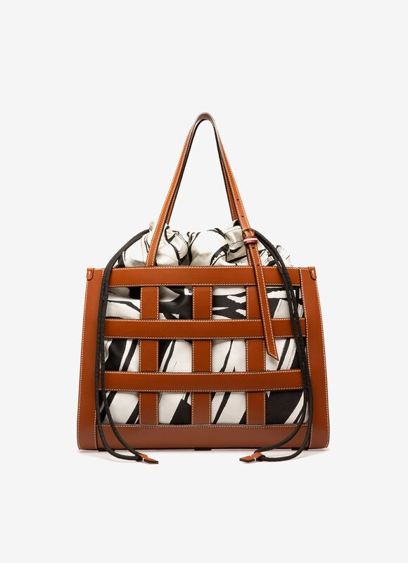 MARRON CALF Cabas - Bally
