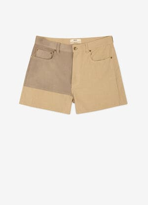 BEIGE MIX COTTON/LINEN Hosen - Bally