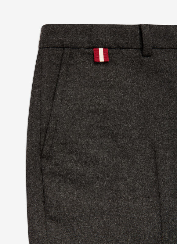 GRIS MIX WOOL Pantalons - Bally