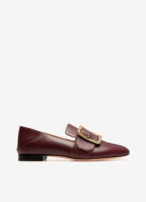 BURGUNDY CALF Flats - Bally