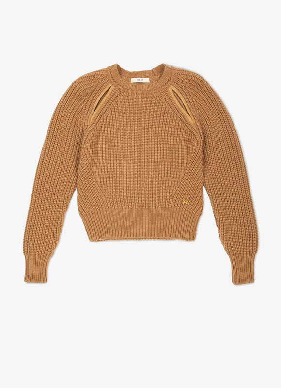MARRON CAMEL WOOL Maille - Bally