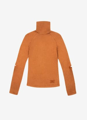 MARRON MIX WOOL Tops - Bally