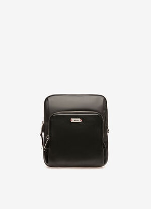 BLACK MIX COTTON/SYNT Messenger Bags - Bally