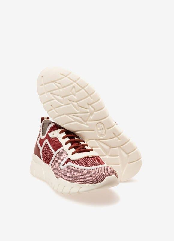 RED MIX POLYESTER Sneakers - Bally