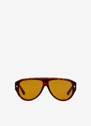 BROWN PLASTIC Sunglasses - Bally