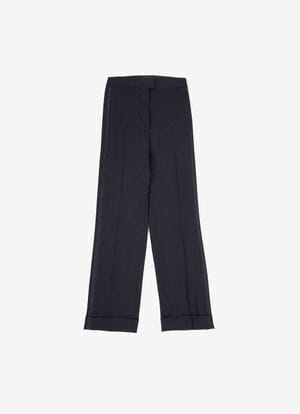 BLUE WOOL Pants - Bally