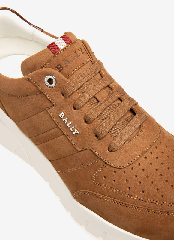RED CALF SUEDE Sneakers - Bally