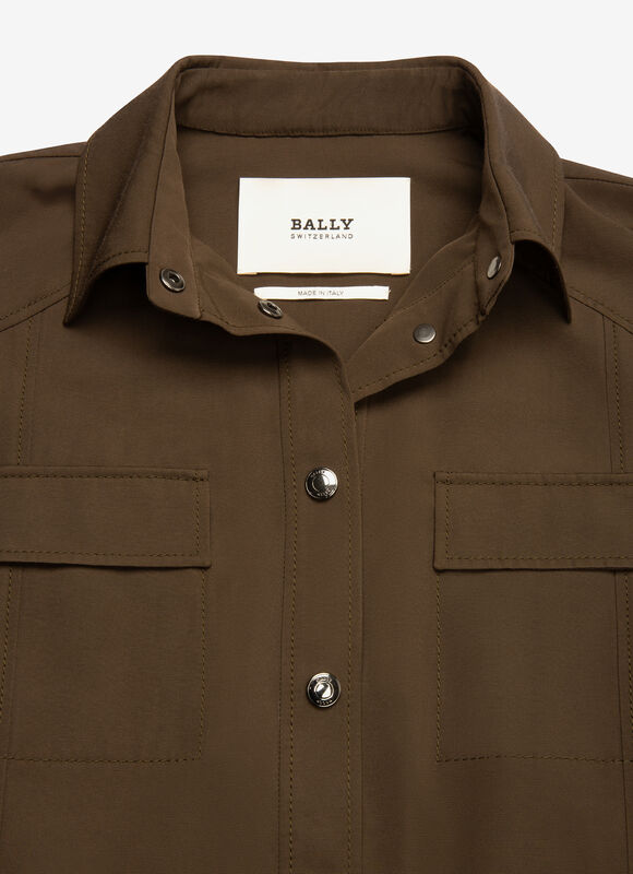 VERT MIX POLY./COTTON Vestes - Bally